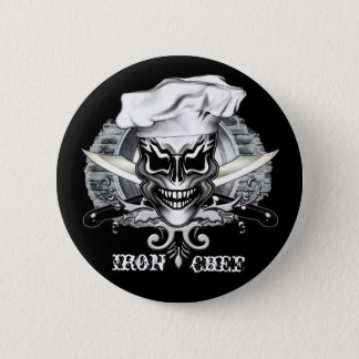 Badge Rond 5 Cm Crâne 1 de chef