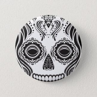 Badge Rond 5 Cm Crâne de fille de Dia de los Muertos That