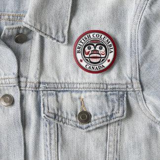 Badge Rond 5 Cm Crâne pleurant de Haida du nord-ouest de Côte