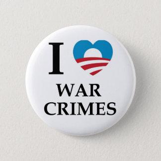 Badge Rond 5 Cm Crimes de guerre d'Obama