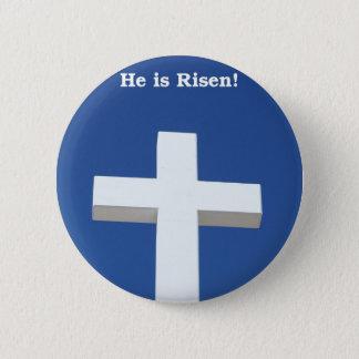 Badge Rond 5 Cm Croix blanche, Pâques