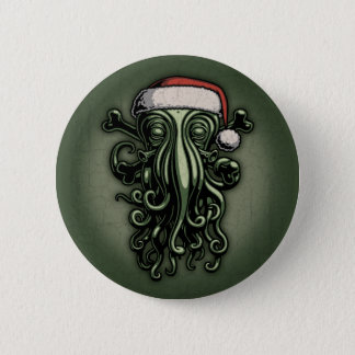 Badge Rond 5 Cm Cthulhu Claus