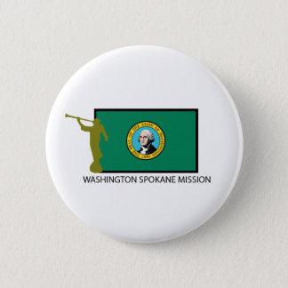 BADGE ROND 5 CM CTR DE LA MISSION LDS DE WASHINGTON SPOKANE