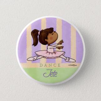 Badge Rond 5 Cm Danseuse de ballerine d'Afro-américain