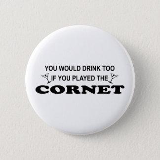 Badge Rond 5 Cm De boissons cornet trop -