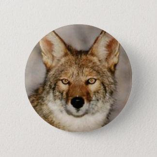 Badge Rond 5 Cm de coyote fin