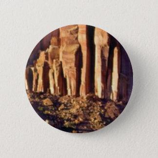 Badge Rond 5 Cm début rouge de falaise