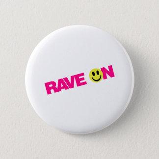 Badge Rond 5 Cm D'éloge matraquage du DJ de musique de fêtard