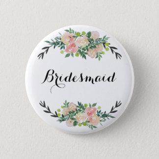 Badge Rond 5 Cm demoiselle d'honneur florale