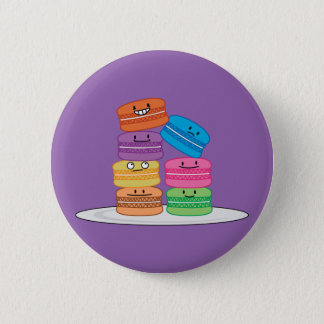 Badge Rond 5 Cm Dessert doux français de biscuit de macarons de