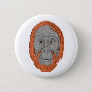 Badge Rond 5 Cm Dessin masculin d'orang-outan d'Unflanged