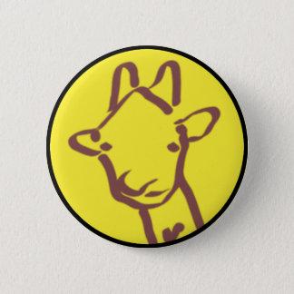 Badge Rond 5 Cm dessin minimaliste de girafe