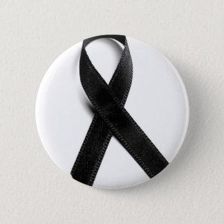 Badge Rond 5 Cm Deuil - ruban noir