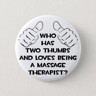 Badge Rond 5 Cm Deux pouces. Thérapeute de massage
