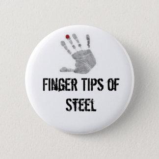 Badge Rond 5 Cm diabétique, bouts de doigt d'acier