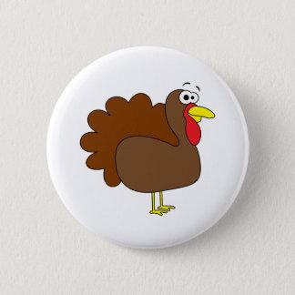Badge Rond 5 Cm Dindon de sourire de la Turquie de thanksgiving