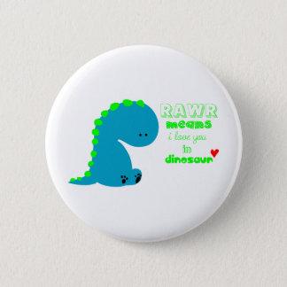 Badge Rond 5 Cm Dinosaure mignon RAWR