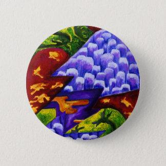 Badge Rond 5 Cm Dragonland - dragons verts et montagnes bleues de