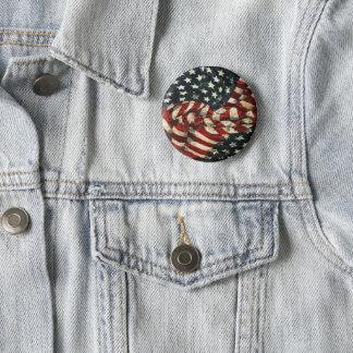 Badge Rond 5 Cm Drapeau-Camouflage américain par Shirley Taylor
