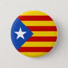 """Badge Rond 5 Cm Drapeau catalan de l'indépendance de """"L'Estelada"""