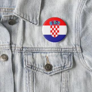Badge Rond 5 Cm Drapeau croate