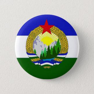 Badge Rond 5 Cm Drapeau de Cascadia socialiste