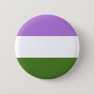 Badge Rond 5 Cm Drapeau de fierté de Genderqueer