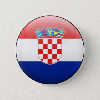 Badge Rond 5 Cm Drapeau de la Croatie