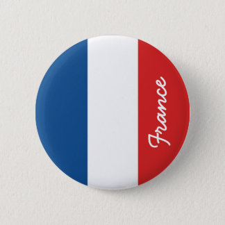 Badge Rond 5 Cm Drapeau de la France