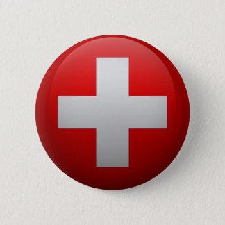 Badge Rond 5 Cm Drapeau de la Suisse