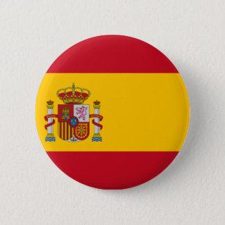 Badge Rond 5 Cm Drapeau de l'Espagne