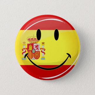 Badge Rond 5 Cm Drapeau de sourire de l'Espagne
