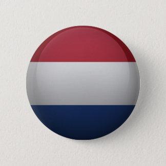 Badge Rond 5 Cm Drapeau des Pays-Bas