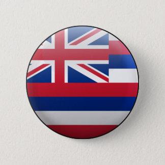 Badge Rond 5 Cm Drapeau d'Hawaï