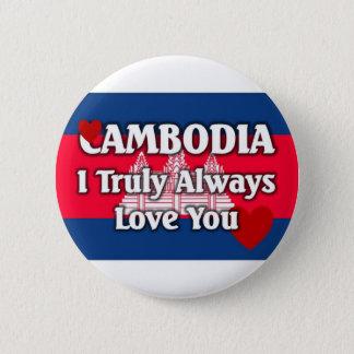 Badge Rond 5 Cm Drapeau du Cambodge