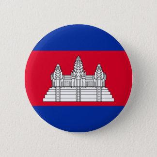 Badge Rond 5 Cm Drapeau du Cambodge - drapeau cambodgien