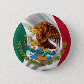 Badge Rond 5 Cm Drapeau du Mexique, manteau des bras