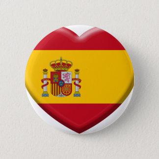 Badge Rond 5 Cm Drapeau Espagne