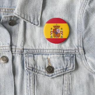 Badge Rond 5 Cm Drapeau espagnol