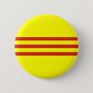 Badge Rond 5 Cm drapeau ethnique du Vietnam du Sud