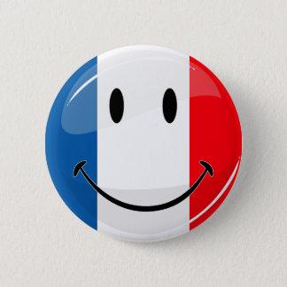 Badge Rond 5 Cm Drapeau français de sourire