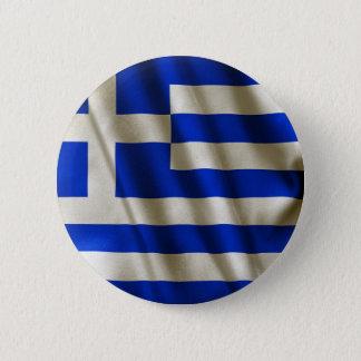 Badge Rond 5 Cm Drapeau grec