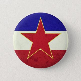 Badge Rond 5 Cm Drapeau Yougoslavie