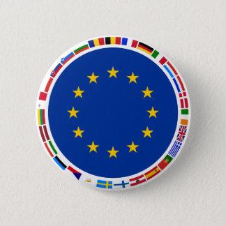 Badge Rond 5 Cm Drapeaux d'Union européenne
