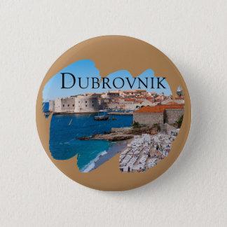 Badge Rond 5 Cm Dubrovnik avec une vue