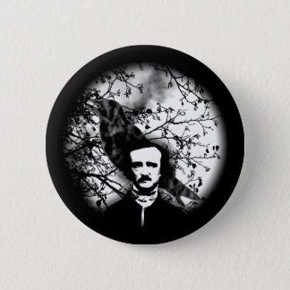 Badge Rond 5 Cm Edgar Allan Poe 'le Raven