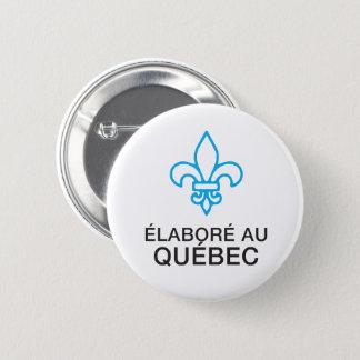 Badge Rond 5 Cm Élaboré au Québec, fleur de Lys français