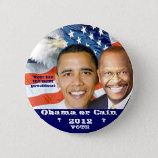 Badge Rond 5 Cm Election_ 2012 d'Obama et de Caïn