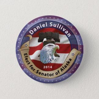 Badge Rond 5 Cm Élisez Daniel Sullivan pour le sénateur de