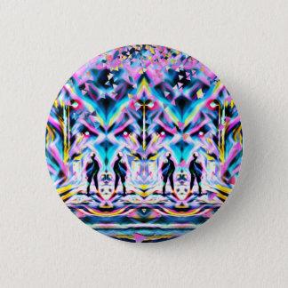 Badge Rond 5 Cm Éloge psychédélique d'art de festival